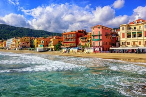 Alassio on the Italian Riviera by San Remo, Liguria.