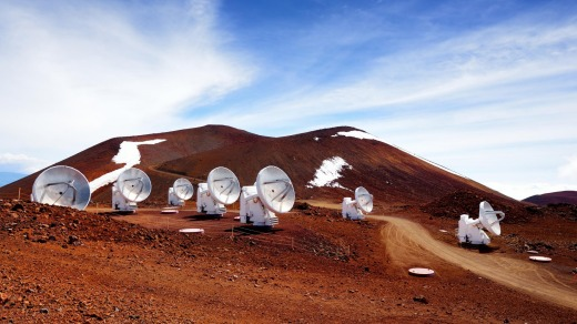 Astronomical research facilities and large telescope observatories located at the summit of Mauna Kea on the Big Island ...