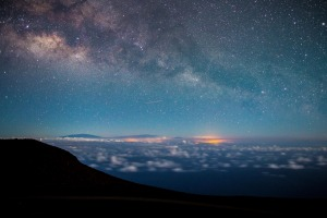 Milky Way from the Haleakala Observatory.
