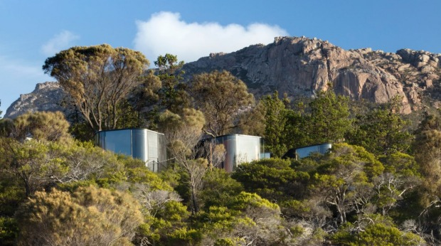 New luxury bungalows at Freycinet Lodge.