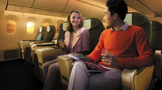 Premium economy on Vietnam Airlines' Boeing 787-9 Dreamliner.