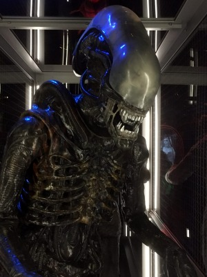 Some of the exhibits, such as this xenomorph from the Alien series, might scare the kids.