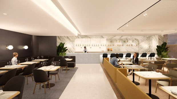 A rendering of the new Qantas First Lounge in Singapore's Changi Airport.