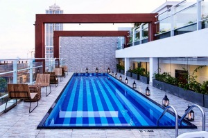 The pool at Dwell.