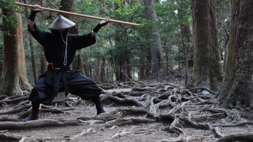 At Ninja Dojo and Store Kyoto, pupils learn that ninjas typically work insideand samurai work outside.