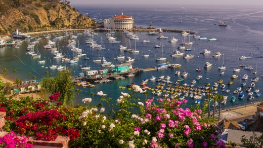 The town of Avalon on Santa Catalina Island. The Californian island was developed in the 1920s as a tourist destination ...