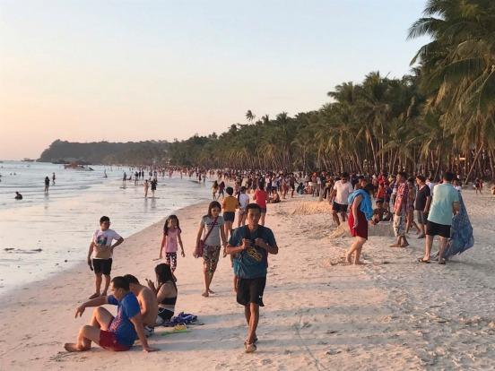 What Boracay normally looks like when tourists flock to its famous beaches.