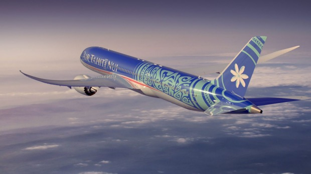 Tropical Polynesian livery: Air Tahiti Nui.