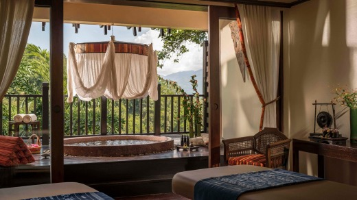 Luxury jungle retreat: Anantara Golden Triangle Elephant Camp and Resort.