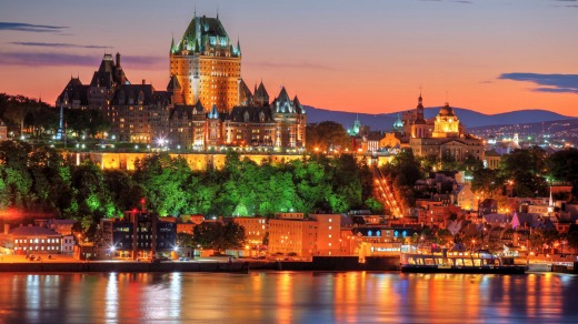 Old Quebec City at Sunset.