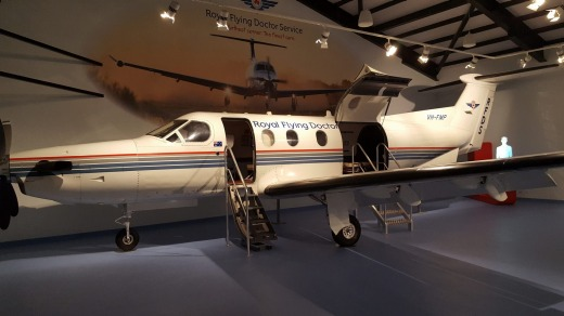 A Royal Flying Doctor Service plane at the RFDS Darwin Tourist Facility.