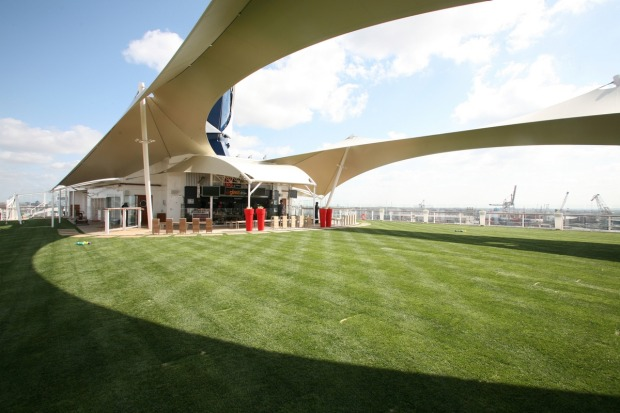 The Lawn Club on the top deck features real grass.