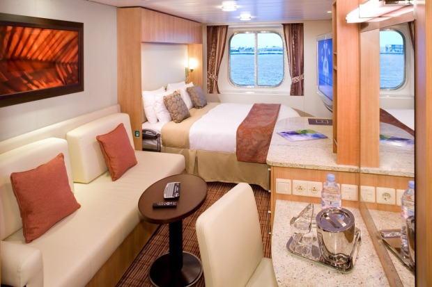 An Ocean View Stateroom.