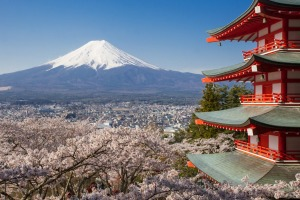 Put this country on your 2019 bucket list: Mount Fuji and Chureito red pagoda, Japan.