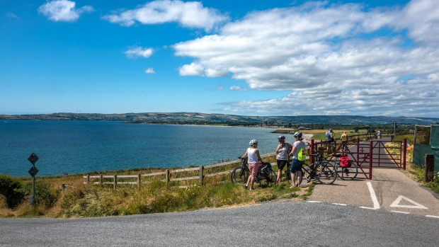 The Waterford Greenway Cycle Path meets the coast near Dungarvan.