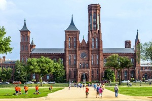 The original Smithsonian building, which now operates as the visitor centre for all the institution's museums.