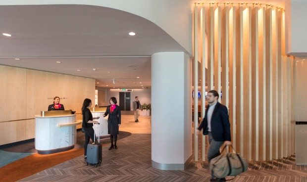 The reception to the Qantas Club at Melbourne Airport.