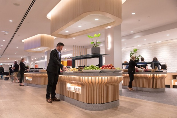 Upgraded Qantas Club and business domestic lounges at Melbourne Airport  fully opened