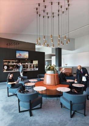 Qantas says the upgrades mean there is now more than 40 per cent more room in the business class lounge.