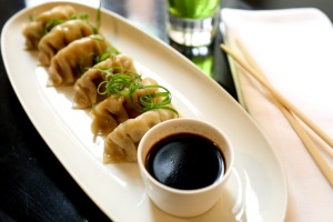 Crab gyoza at Hotel Montefiore.