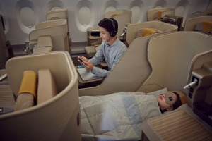 Asiana Airlines Boeing 777 business class.
