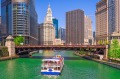 Cruise along the Chicago River.