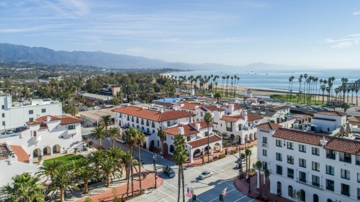 The Hotel Californian in Santa Barbara has 121 rooms and suites that are spread over three buildings.