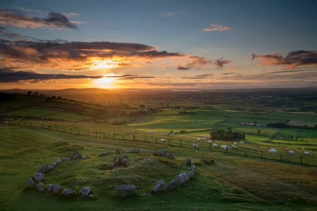 The Loughcrew Cairns, also known as the Hills of the Witch, are a group of Neolithic passage tombs dating to 3000 BC.