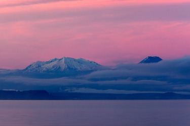 Lake Taupo, New Zealand: A smidgeon smaller than Singapore, Lake Taupo is a rather frightening volcanic caldera. If it ...