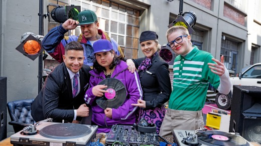 The cast of Air New Zealand's ''It's Kiwi'' safety video.