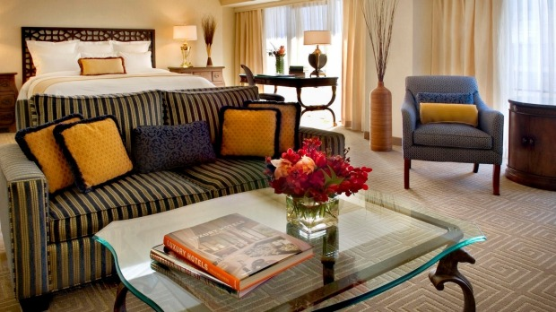 Inside one of the Marriott Marquis' more luxurious rooms, The Presidential Suite.
