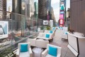 The rooftop bar at the Marriott Marquis Times Square.