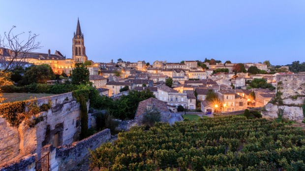 The World Heritage town of Saint Emilion, Gironde, France.