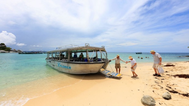 Coral Expeditions' Xplorer tender gets you ashore with ease.