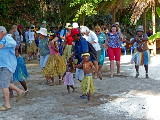 Dancing with the locals at Yenwaupnor Village, West Papua.