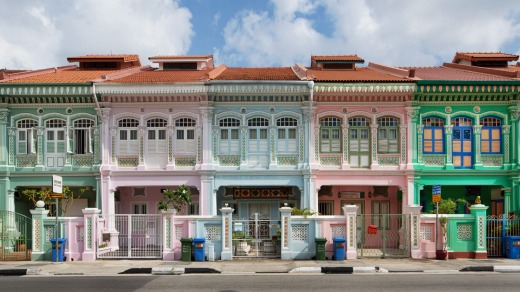 Shophouses in the Katong neighbourhood.