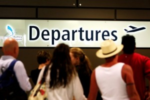 The only physical deterrent stopping New Zealanders from leaving the country is fewer departing flights.