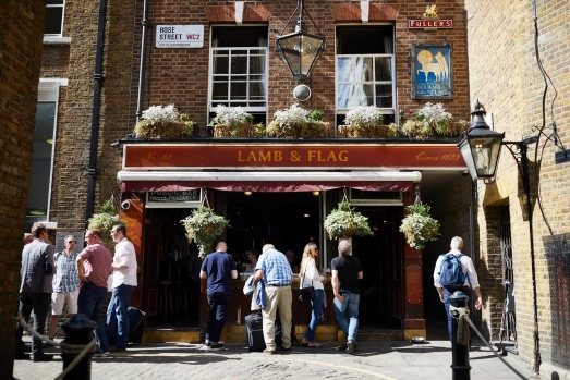 THE LAMB & FLAG: This pub – named for an emblem of the Knights Templar – is tucked down an alley in Covent Garden in ...