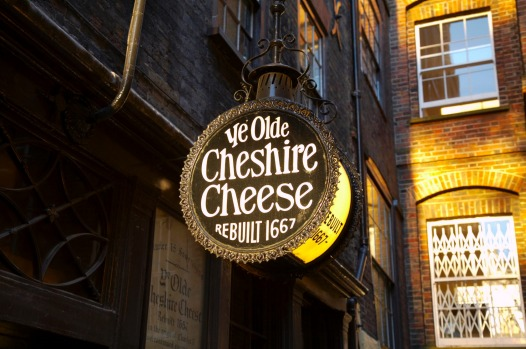 YE OLDE CHESHIRE CHEESE: Ye Olde Cheshire Cheese dates from 1667 and has a board at the door listing the 15 monarchs ...