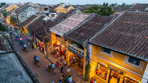 The streets of old town Hoi An, Vietnam.