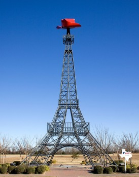 PARIS, USA: What else would local welders come up with to decorate the town of Paris, Texas? This is a replica just 1:16 ...