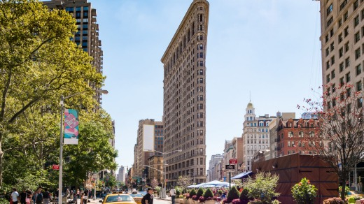 The Flatiron Building is a Manhattan icon.