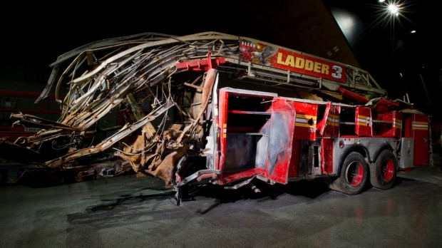 Ladder 3 fire truck inside the museum.