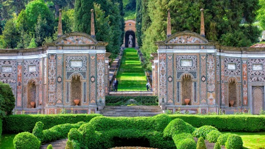 Gardens of the Villa d'Este in Cannebio, Lake Como.