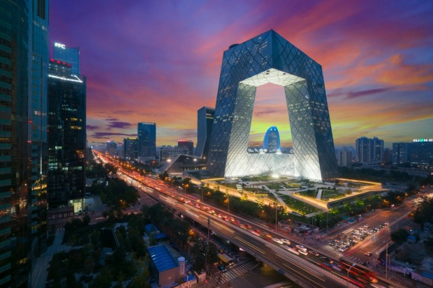 CCTV HEADQUARTERS, BEIJING: This 44-storey building - is it one building bent over, or two joined together - resembles a ...