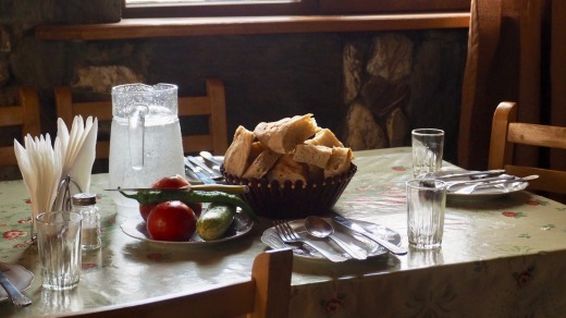 Hospitality at one of the guest house's in Ushguli, in the Svaneti region. In this part of Georgia, dinner guests are ...