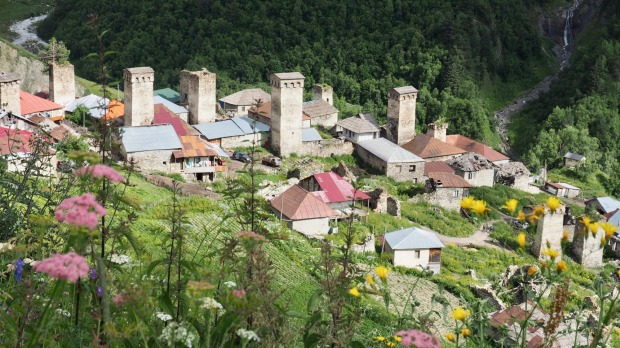 Adishi village in Georgia's Svaneti region.