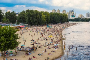 Venice beach in Kiev is popular with locals and tourists.