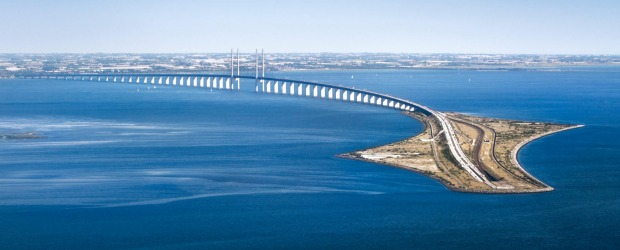 Oresund Bridge between Sweden and Denmark.