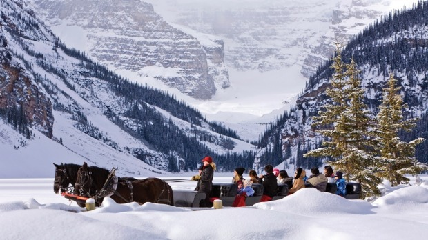 Fairmont Chateau Lake Louise sleigh ride.